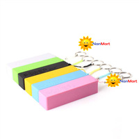 NanMart Multicolor! Portable Mobile Power Bank USB 18650 Battery Charger Key Chain for iPhone MP3 DIY