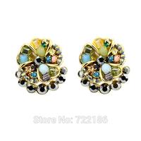 2014 Fashion JewelryJewelry Alloy Cute Round Stud Earrings for Women