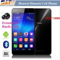 4G FDD LTE Octa Core Original 5 inch Huawei Honor 6 1.7GHz 3GB RAM 16G FHD 1920x1080P 13MP Android 4.4 unlocked phones