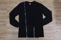 Special Inclined Zipper Design Long Sleeve Men T-Shirt  L/S  Tyga Tee Shirt