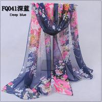 Scarf Women 2014 Autumn and Winter New Desigual Long Chiffon Scarfs Wrap Floral Print Silk Scarves Shawls Magic Scarf Hijab