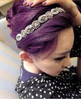 2014 New Lady's Handmade Hair Accessory Silver Metal  Rhinestone Stone Bead Headband Hair Band Hair Wrap Jewelry