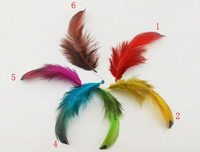 100pcs/lot 6-12cm real dyed colors mix point hen pheasant feathers plumage for jewelry accessories craft making bulk sale