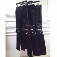 ! mtrl motorcycle patchwork zipper jeans 2014 slp