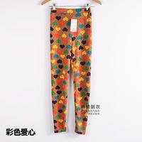 leggingSpring snow deer Korean wave point cotton cashmere knit graffiti leggings pantyhose child large yard