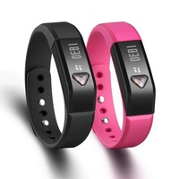 Bluetooth smart bracelet 4.0 IP67 Smart Wristband Sports Sleep Tracking Health Fitness for  android mobile phone and iPhone
