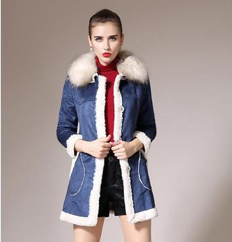 Новый 2014 мода зимнее пальто женщин высокое качество теплый мех енота пальто средней длины хлопка мягкой дамы зимняя куртка Большой размер
