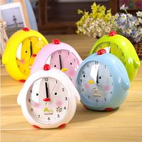 Voice alarm clock cartoon chick clock luminous silent watch belt chairpersons