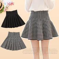 2014 autumn and winter women basic pleated skirt high waist slim h-14 bust skirt