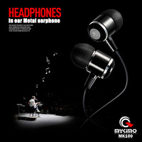 Super Quality 3.5mm In-ear Metal Headphone Earphone with mic microphone For MP3 Iphone Samsung HTC Mobile Phone
