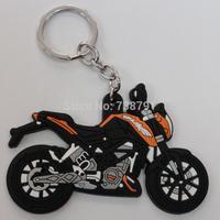 Motorcycles PVC Rubber Keyring Keychain Key rings chain FOR Yamaha Kawasaki Suzuki Honda Free Shipping