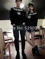 Hot sale autumn clothing Korean lovers temperament women's lovers printing  Hoodie long sleeve blouse C62