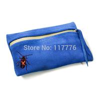 vintage suede leather functional toolkit waist pack with waterproof zipper