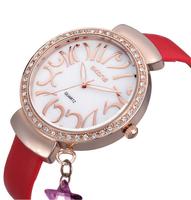 New Fashion Lady Rhinestone Crystal Watch Skone Luxury Brand Pendant Wristwatch Women Dress Wristwatch Relogio Rolojes 9222