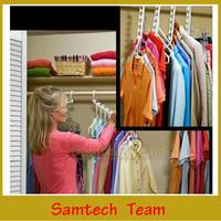 ( 8pcs/Pack ) Space Saver Magic Clothes Wonder Hanger Hook Multifunction Closet Organizer