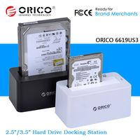 "ORICO 2.5"" 3.5"" 2.5 Inch 3.5 Inch SATA SSD USB 3.0 Hard Drive Disk Dock Station 4TB HDD Enclosure"