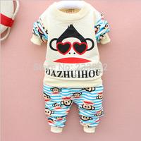 The spring of 2015 the new boy's suit, popular cartoon monkey suit, cotton casual pants suit