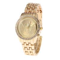 Women Stainless Steel Watch And jewelry Sell Lke Hot Cakes Rhinestone Adornment Quartz Watch Women Movement SHI KAI 3355