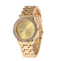 Sales Promotion!New Fashion Lady Stainless Steel Watch,  High quality Rhinestone Personality Quartz Watch SHJ KAI 4411