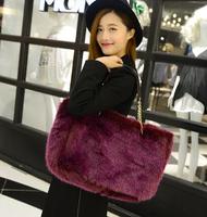Leopard print handbag women's handbag 2013 autumn and winter bag fur bags fashion women's vintage bag banquet bag