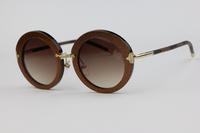 Plate Frame Unisex Sunglasses Z0520 Round frame Retro style Coffee flash Fashion wild Elegant Cute