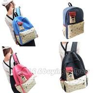HOT Womens Canvas Travel Satchel Shoulder Bag Backpack School Rucksack (13109002)