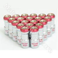 Red Color, Rays Volk Racing Formula Nuts Set Volk Racing Nuts With Lock Lug Nuts M12 x 1.5 Steel Lug Nuts, MC10024