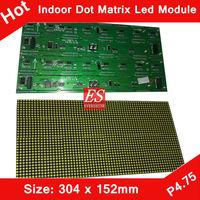 Alibaba Express Indoor F3.75 P4.75 White Color Single Color LED Dot Matrix Module 304*152mm 64*32 Pixels for Indoor LED Display
