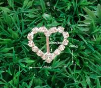 10mm inner bar 20pcs/lot  Craft Heart Buckle Diamante Rhinestone DIY Wedding Ribbon Buckle Bridal Invitation Supplies A09