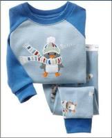 New Brand boys  pajamas ,Retail,promotion, hot sale, new 2013 duck design  boy pajama children clothing set