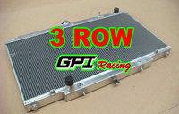 3ROW Aluminum Radiator for Nissan PATROL Y61 GU 4.2L TD Diesel AT/MT 1997-2001 1998 1999 2000 97 98 99 00 01