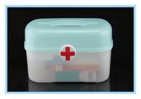 Free shipping High quality Medicine boxes, plastic box, Household first aid kit, medicine storage box, multi-medicine box,