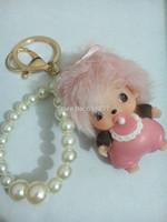 2014 New design Free Shipping Car Key Chain Women's Car Keychain  pearl Keychain Charm Hand Bag Pendant