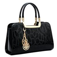 Russia style women shoulder bag women handbag crossbody Bags Genuine patent leather pendant tote women messenger bag Clutches