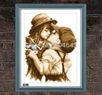 "Wall Home Decoration Cross Stitch Precision  Printing"" First  Kiss "" Cross-Stitch Kit , DIY Cross Stitch Sets,"