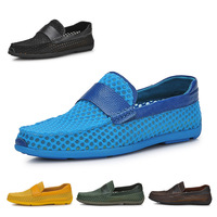 Really high quality men flat shoes + High-quality leather men Summer Loafers shoes Sandals and slippers Breathable, low-carbon