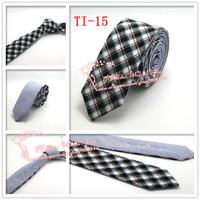 Cheap Hot sale Multi color,2015 Brand New,Men Groom Check corbatas necktie,Mens Formal Wedding Skinny Neck Ties,TI15
