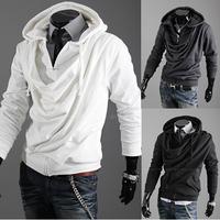 Hot,Wholesale Men's Spring Fashion Slim heap collar cardigan hoodies sweatshirts men,1469