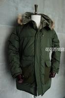 South pole vintage down hooded fur  double wear parka