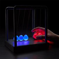 Kinetic Light Newton's Cradle Newtons Cradle Steel Balance Ball Physics Science Pendulum Birthday gift Wedding gift