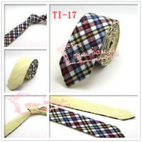 In stock Cheap Hot,2015 Brand New,Men Check corbatas business necktie,Mens Formal Wedding Solid Skinny Neck Ties,TI17