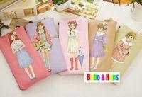 New fashion flower girls friend style PU pencil Bag / pen case / Cosmetic Pouch / Wholesale