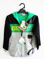 Children/kids/boys Spring Autumn and winter clothing / BEN 10 sweatshirt / hood zipper cardigan / outerwear/ jacket