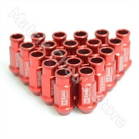 D1 Spec Light Weight Wheel Nuts Wheel Lug Nuts 7075 Aluminium Alloy Racing Nuts RED Color