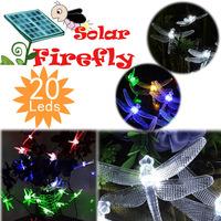 Solar Garden String Lights for Outdoor 20Led Fairy Light Lotus Bulb for Fence Lawn Landscape Decoration