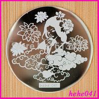 Free Shipping   Stamping Nail Art  8pcs/lot  hehe041  Stamping Plate