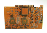 "Double layer PCB Rigid board printed circuit board with 30U"" gold finger"