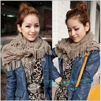New Woman Winter Warm Solid Scarves Women Tassel Thick Wool Hedging Scarf Free Shipping