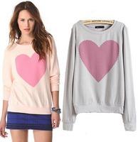 2015 European Style  Women Sweatshirts Casual Pullover Cotton O-neck Add Size Jacket Spring AutumnOutwear Famous Brand CL2202