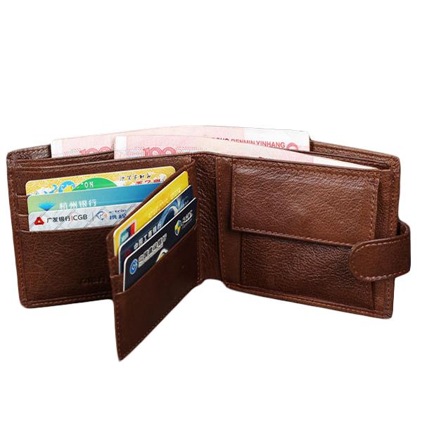Fashion Casual Genuine Leather Short Desigual Men Wallet Hasp Buckle Coin Pocket Carteras Men Purses Black Friday Wallet Men(China (Mainland))